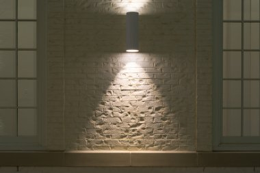 Outdoor Light on Brick Wall