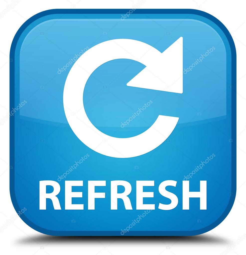 refresh rotate arrow icon cyan blue square button