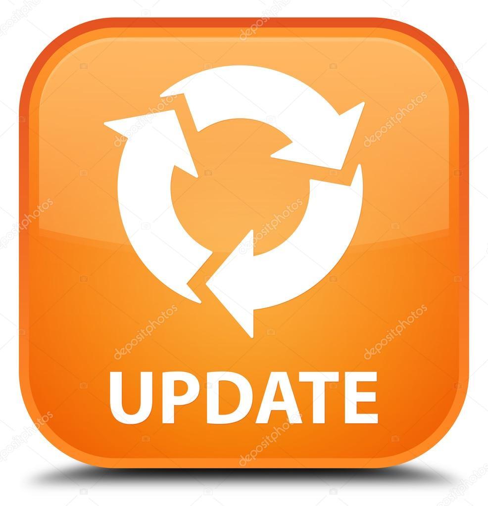 Update (refresh icon) orange square button — Stock Photo © FR_Design #109509628
