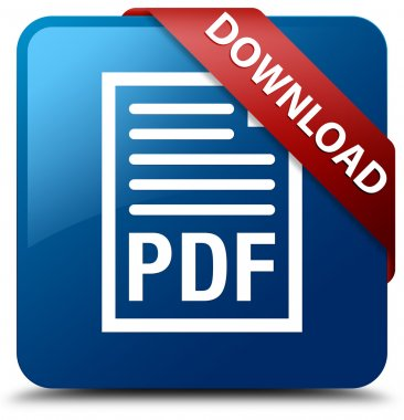Download (PDF document icon) glossy blue square button