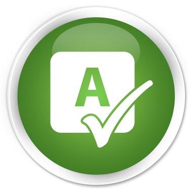 Spell check icon green button