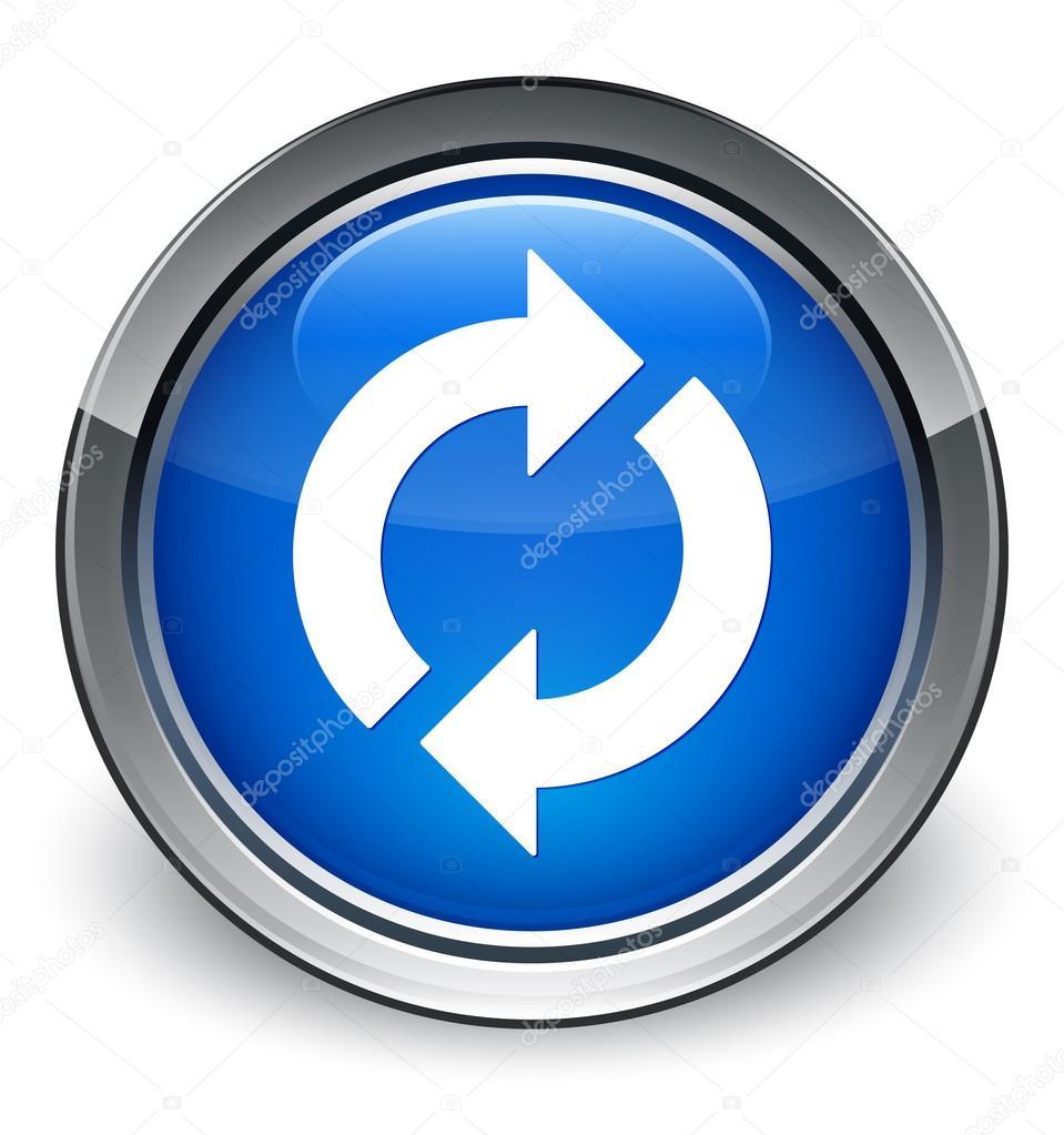 Bot n azul brillante icono de actualizar foto de stock for Icono boton