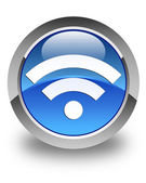 Wifi icon glossy blue round button