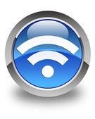 WiFi ikony lesklé modré kulaté tlačítko