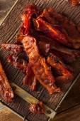 Domácí sušené grilování slaniny Jerky