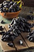 Surové organické dlouhé purpurové hrozny