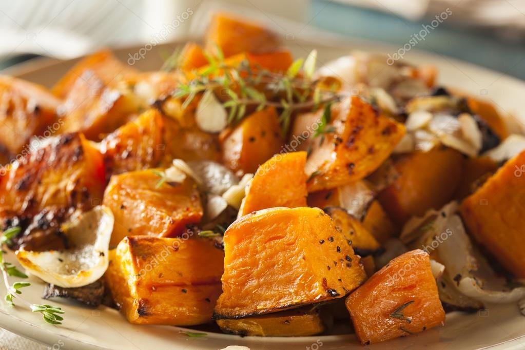 gekookte zoete aardappel