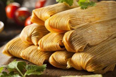 Homemade Corn and Chicken Tamales