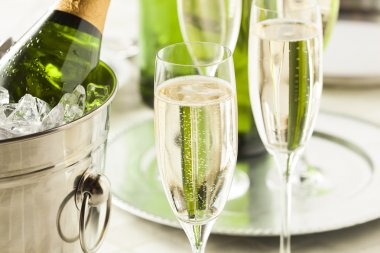 Alcoholic Bubbly Champagne for New Years