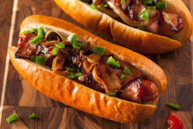 Homemade Bacon Wrapped Hot Dogs