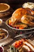 Photo Homemade Roasted Thanksgiving Day Turkey
