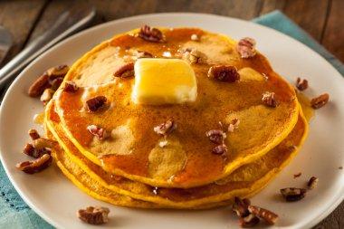 Homemade Pumpkin Pancakes with Butter