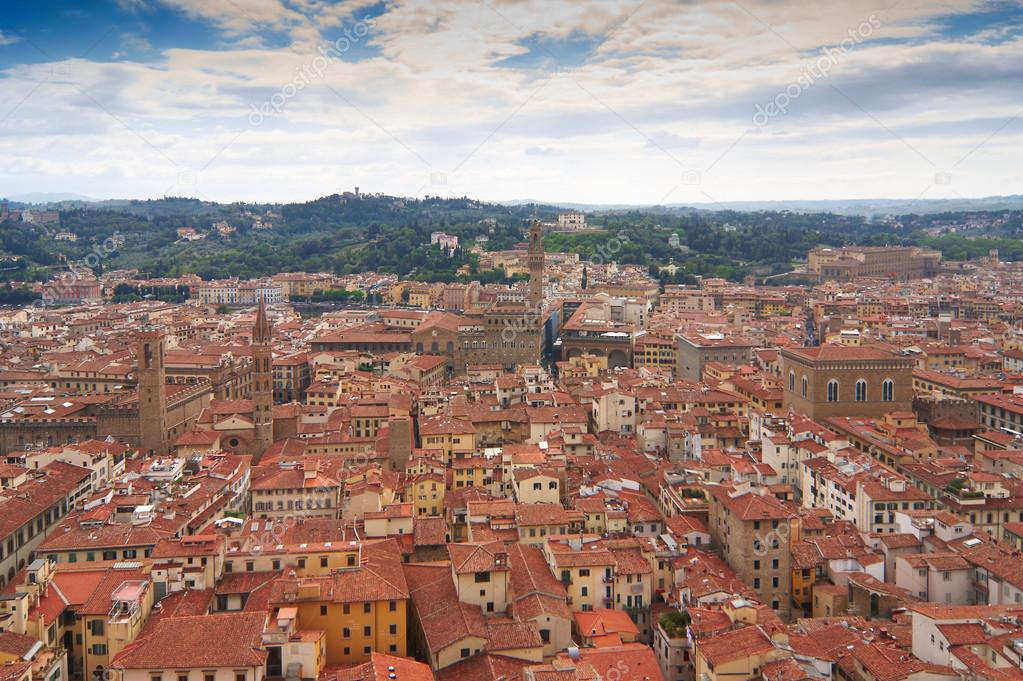Aerial view to Firenze, Italy