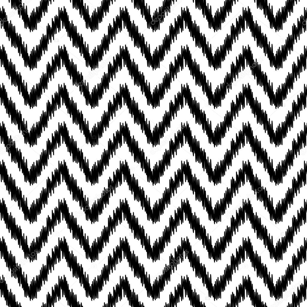 Patrón de chevron geométrica abstracta de ikat étnico en blanco y ...