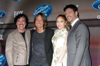 Scott Borchetta, Keith Urban, Jennifer Lopez, Harry Connick Jr.