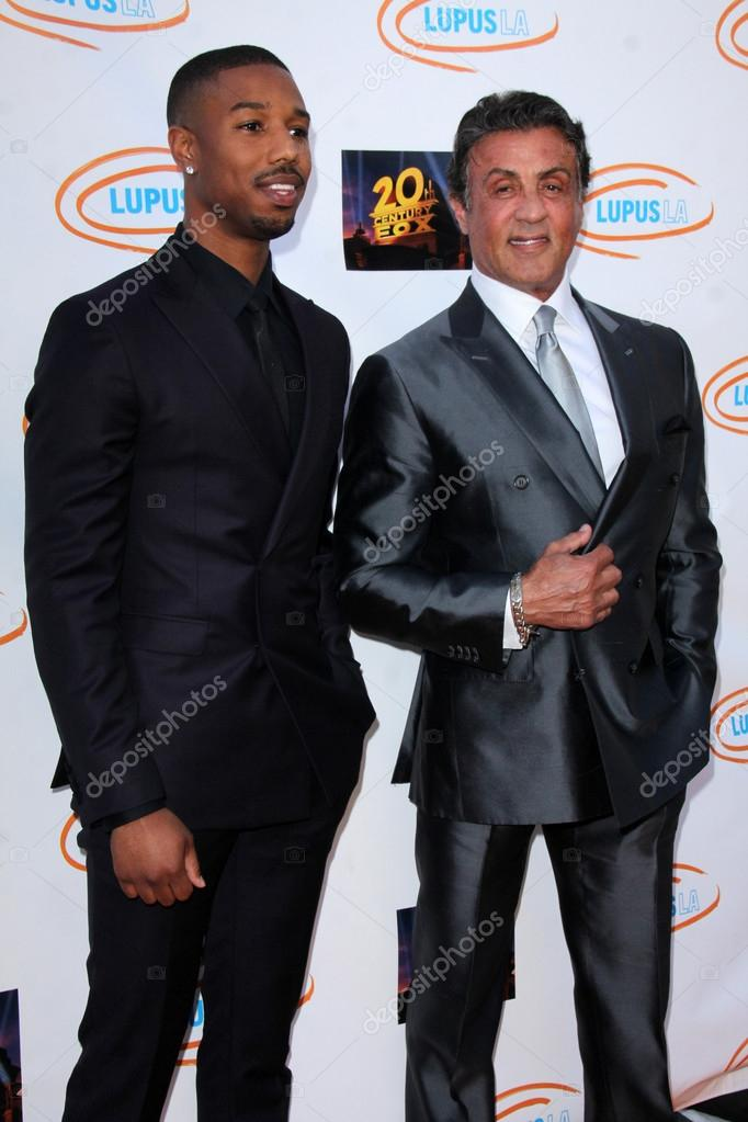 Trascendencia pozo estafador  Michael B Jordan, Sylvester Stallone – Stock Editorial Photo © Jean_Nelson  #76053041