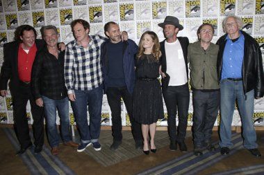 Michael Madsen and Kurt Russell, Quentin Tarantino, and actors Demian Bichir, Jennifer Jason Leigh, Walton Goggins, Tim Roth, Bruce Dern