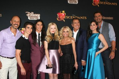 Descendants Cast, Maz Jobrani, Cameron Boyce, Booboo Stewart, Dove Cameron, Kristin Chenoweth, Kenny Ortega, Sofia Carson, Dan Payne