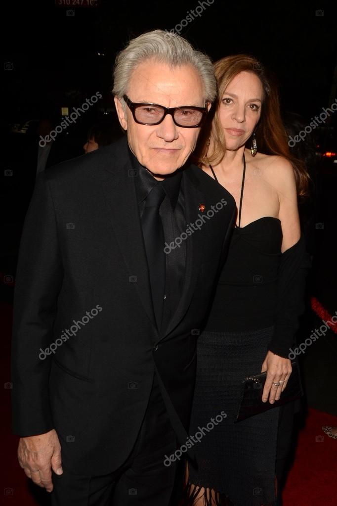 Actor Harvey Keitel and wife Daphna Kastner — Stock Photo