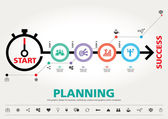 Time for Success, template modern info graphic design