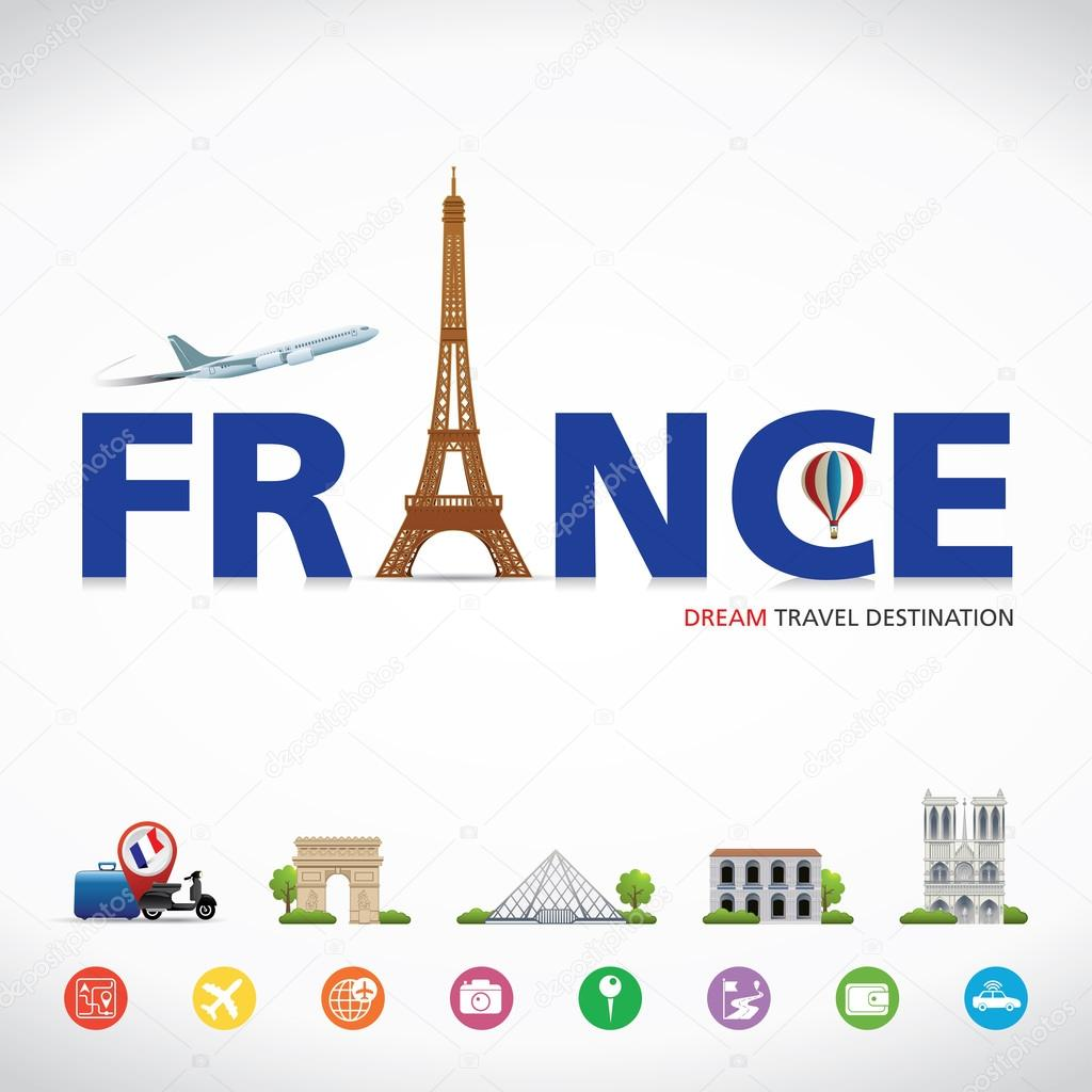 France travel destination symbols of france stock vector france travel destination symbols of france stock vector biocorpaavc