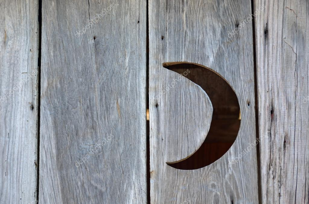 Crescent Moon In An Outhouse Wall Stock Photo Debuskphoto 105855170