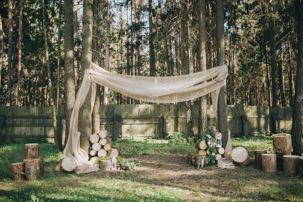 Bogen Fur Hochzeit Im Wald Stockfoto C Hinhanni 106435926