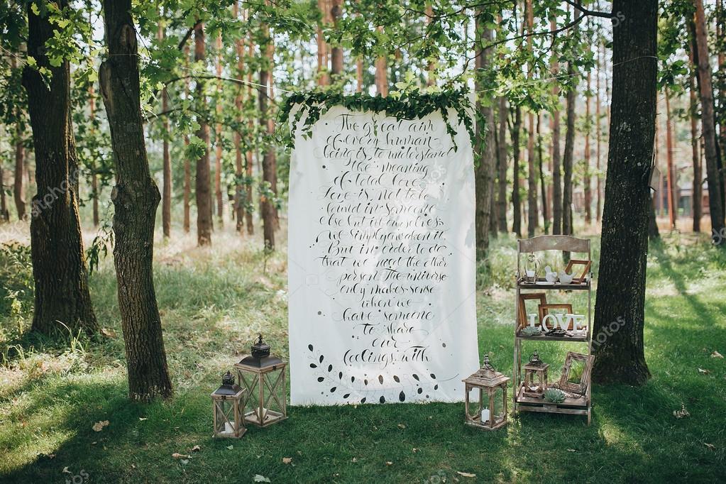 Ort Fur Hochzeit Im Wald Stockfoto C Hinhanni 106437572