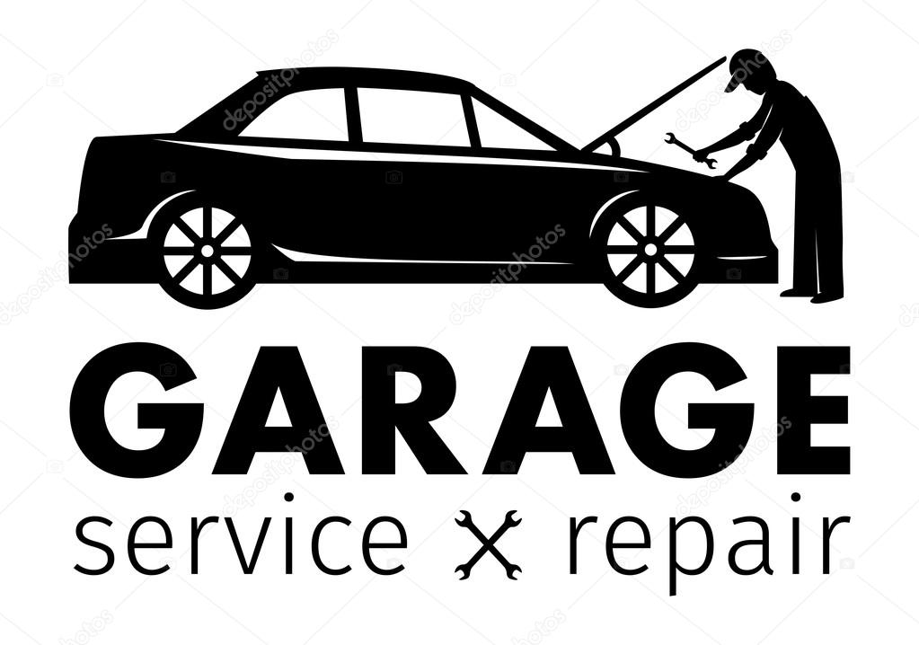 Auto center garage service and repair logo vector for Garage reparation auto