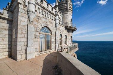 Landscape Castle Swallows nest Crimea and deep blue sea