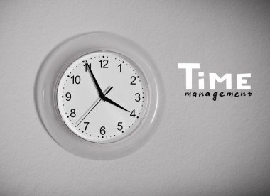 Clock on the wall with