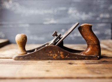 Jack-plane on wooden table, small dof