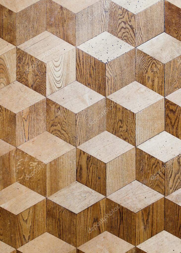 Antiguo Palacio madera pisos de parquet diseño con cubos de volumen ...