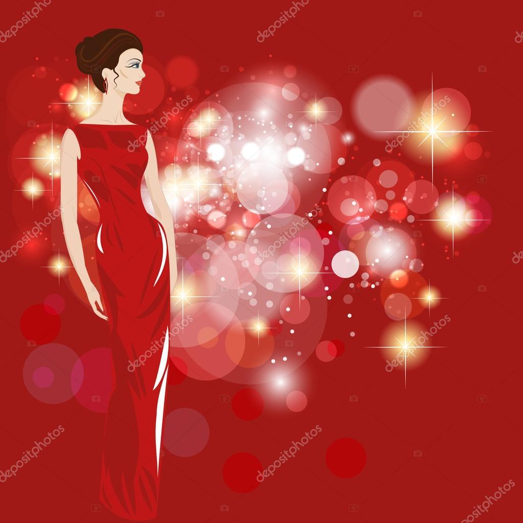 542d61406e14 Γυναίκες σε βραδινά φορέματα - εικονογράφηση — Διανυσματικό Αρχείο ...