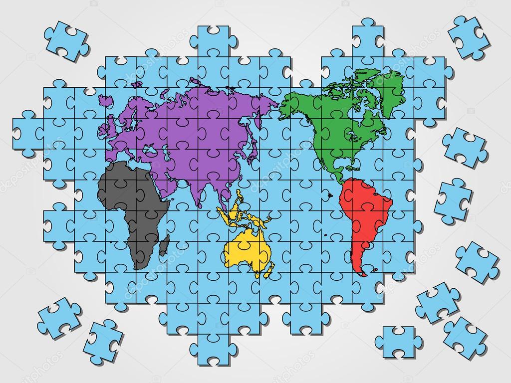 World map puzzle stock vector labbelman 54239929 world map puzzle stock vector gumiabroncs Images