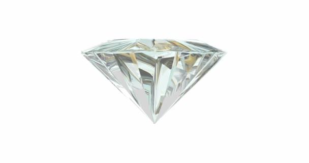 Rotating diamond on white