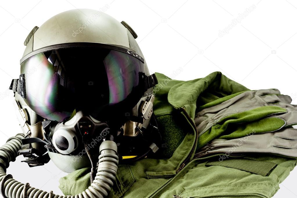 Military pilot flight suit