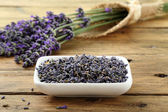 Fotografie Fresh and dried lavender flowers
