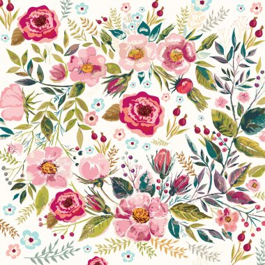 "Картина, постер, плакат, фотообои ""Vintage floral background"", артикул 89389520"