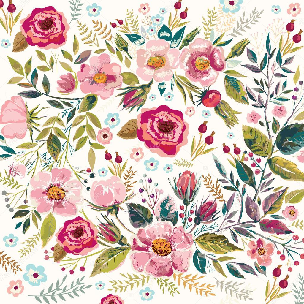 vintage floral background � stock vector 169 molesko 89389520