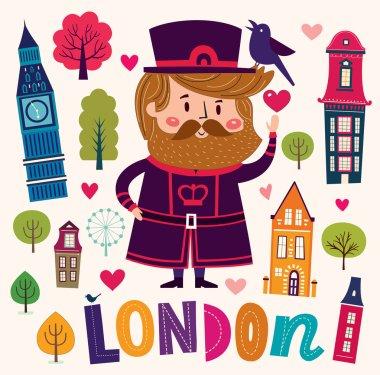 illustration with London symbols