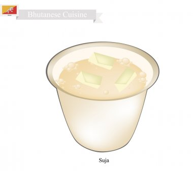 Suja or Bhutanese Butter Tea with Salted Flavor