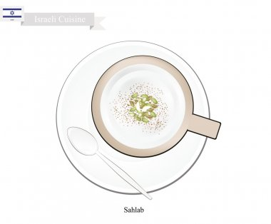 Sahlab or Israeli Hot Milk with Orchid Root Flour