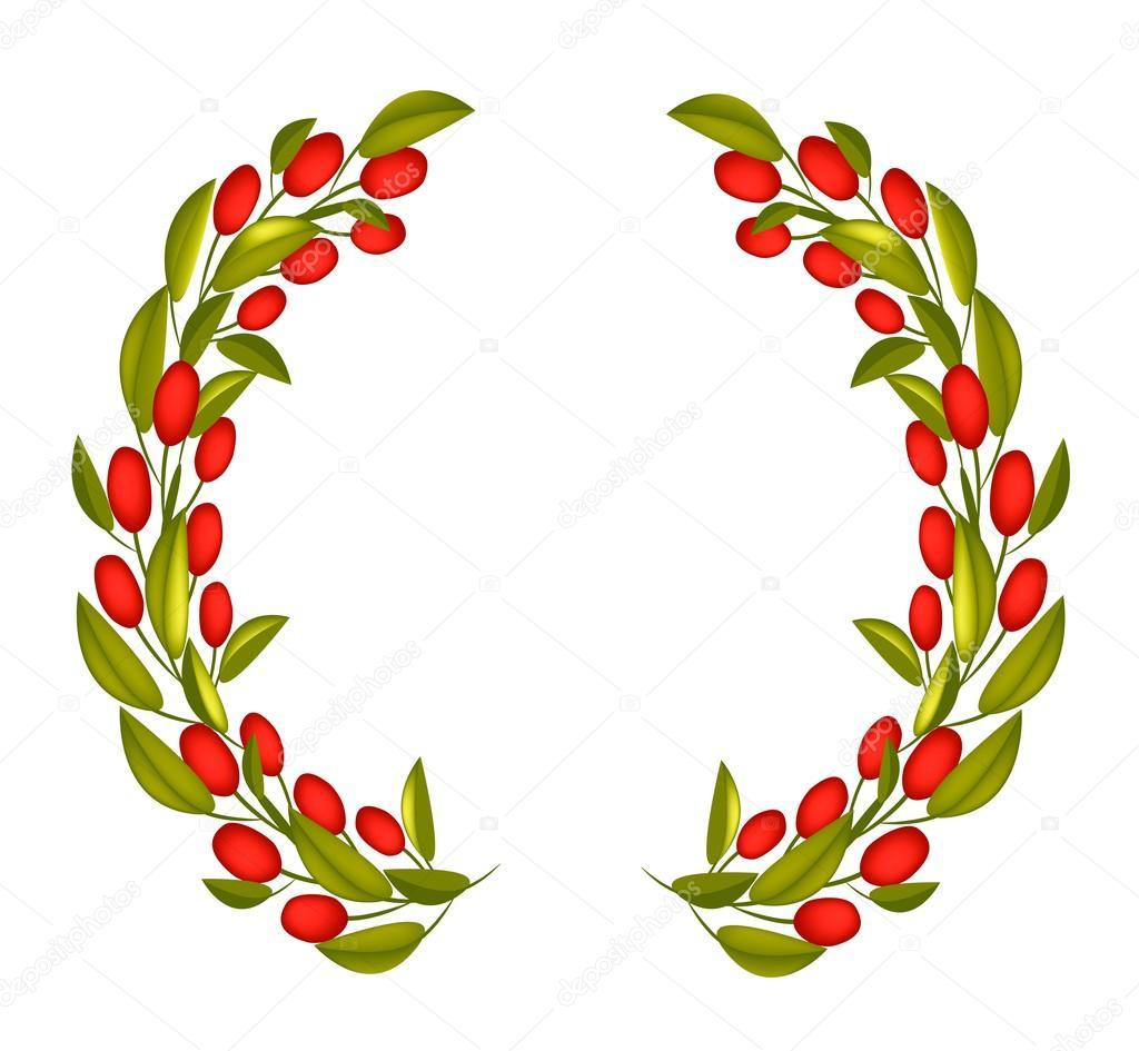 Vector: coronas en png | Oliva corona o corona de olivo ...