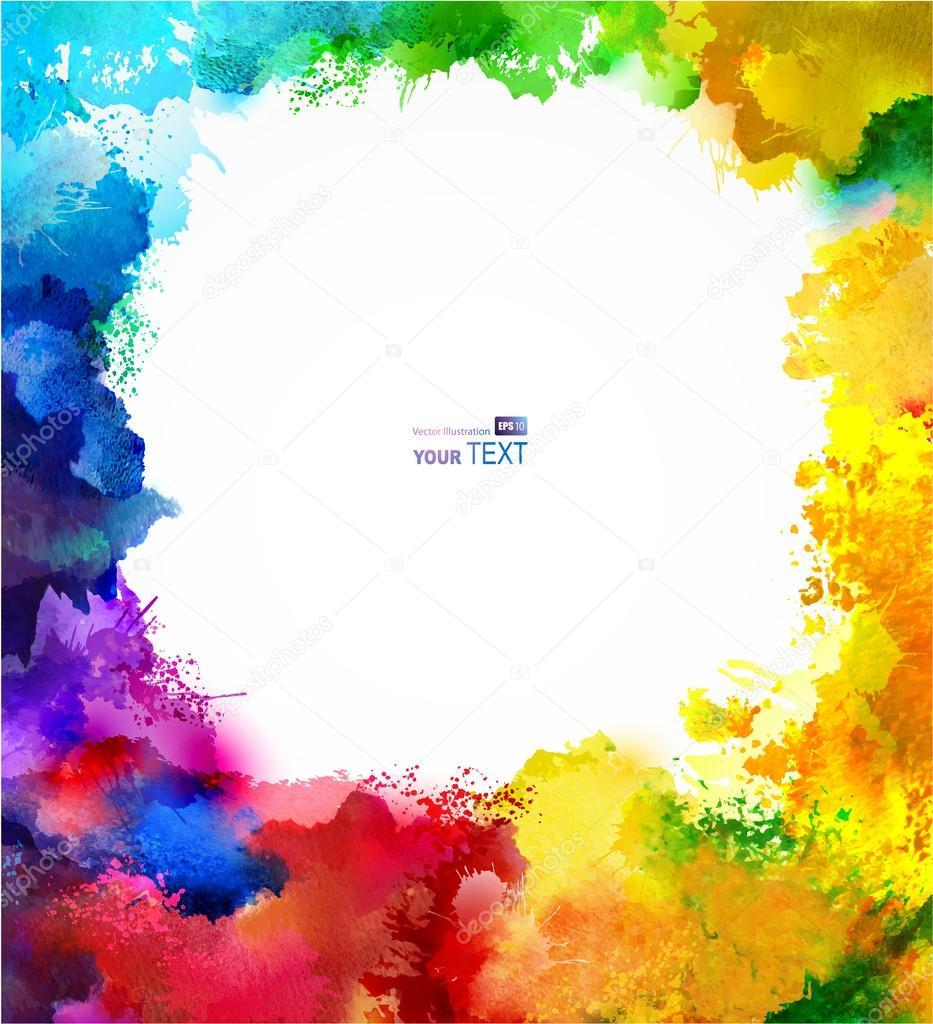 Absract rainbow frame. — Stock Vector © antart #62257463