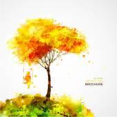 Ragazza di sogno su albero ed oscillazione