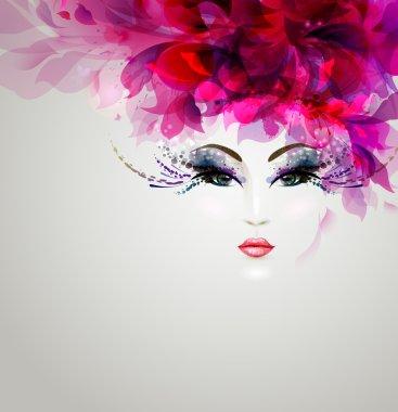 Beautiful abstract woman