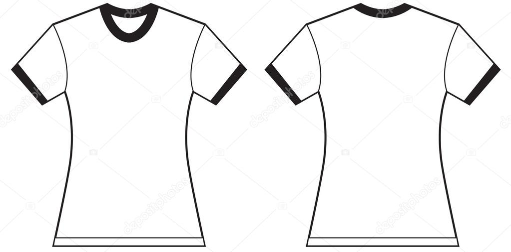 Womens Ringer TShirt Design Template Stock Vector Airdone - T shirt artwork template