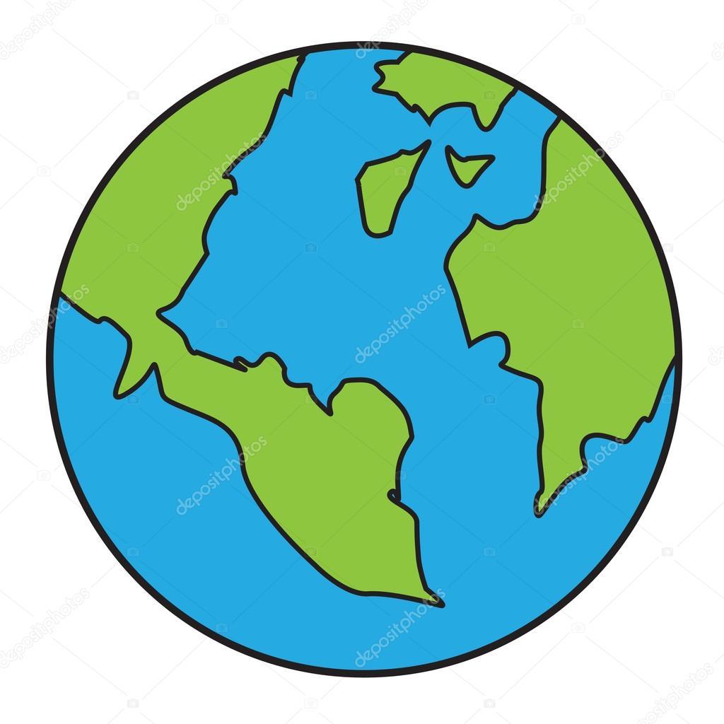 Dessin Animé De La Planète Terre Image Vectorielle Airdone