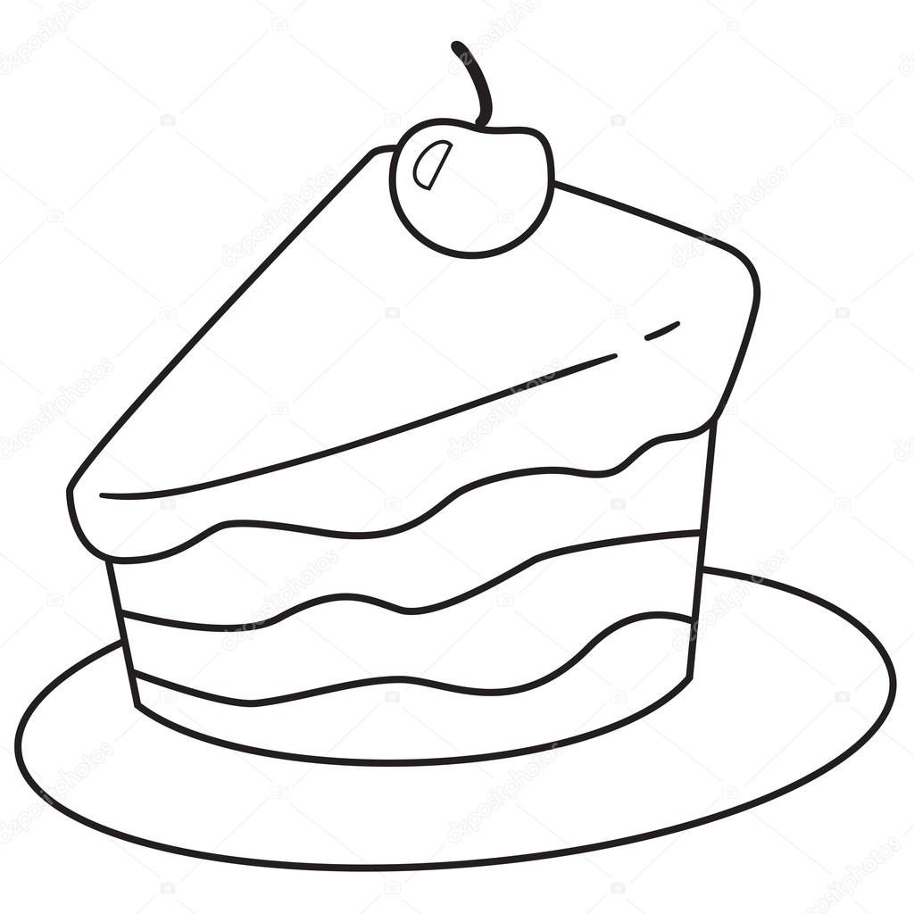 Fetta Di Torta Doodle Vettoriali Stock Airdone 118577758